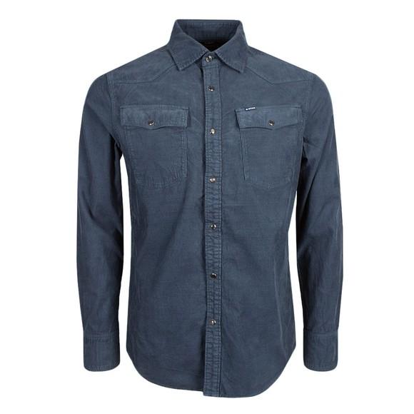 G-Star Mens Blue 3301 Corduroy Shirt