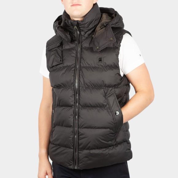 G-Star Mens Black Whistler Padded Hooded Vest