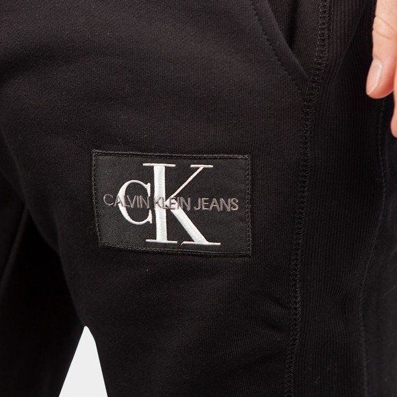 Calvin Klein Jeans Mens Black Monogram Patch Logo Jogger main image
