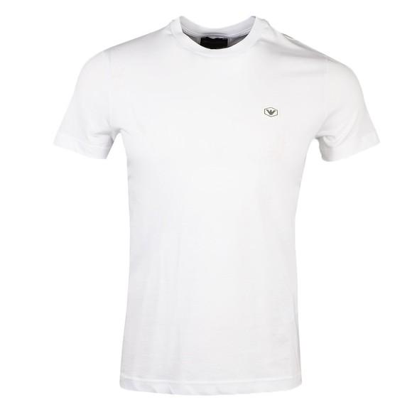 Emporio Armani Mens White 8N1TQ6 Small Logo T Shirt main image