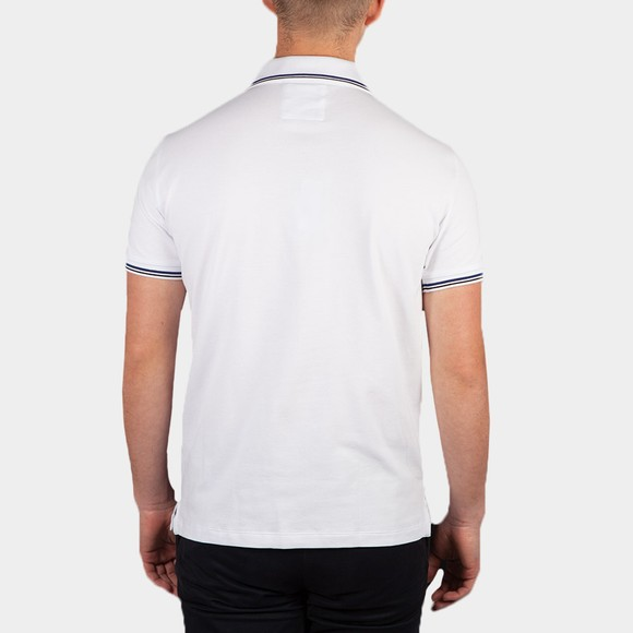 Emporio Armani Mens White Essential Tipped Polo Shirt main image