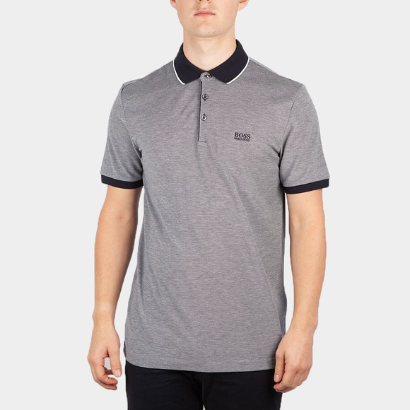BOSS Mens Blue Formal Prout Polo Shirt