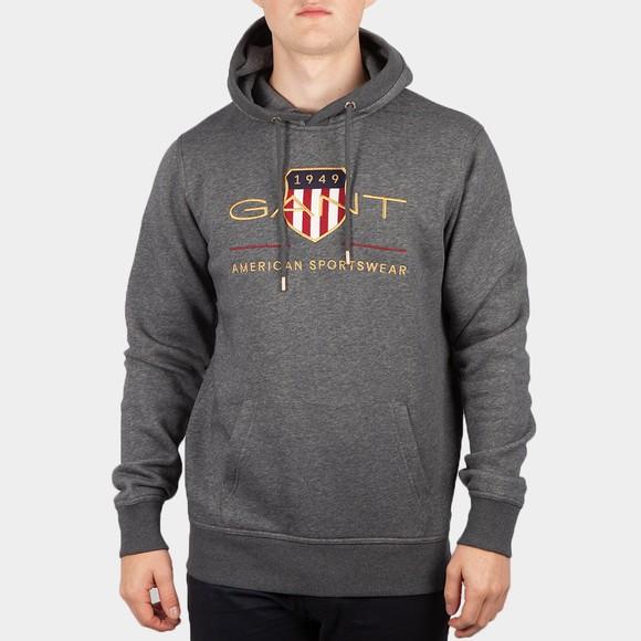 Gant Mens Grey Archive Shield Hoody