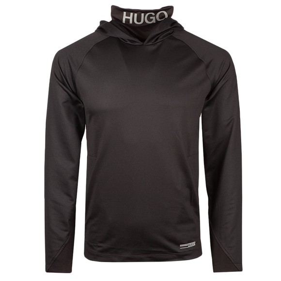 HUGO Mens Black Denergy Roll Neck Sweatshirt
