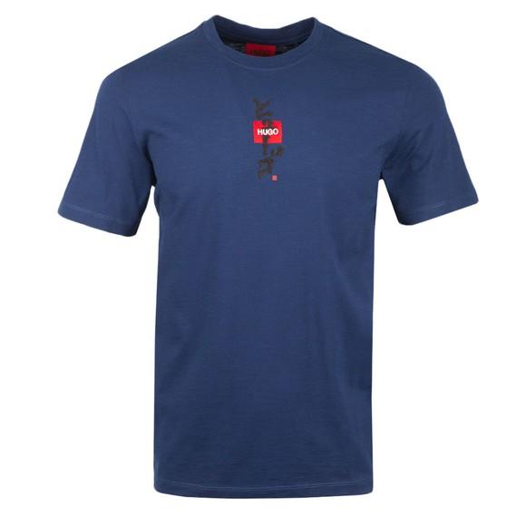 HUGO Mens Blue Dasabi T Shirt