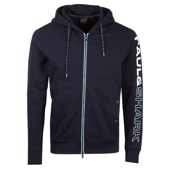 Paul & Shark Mens Blue Sleeve Logo Hoody