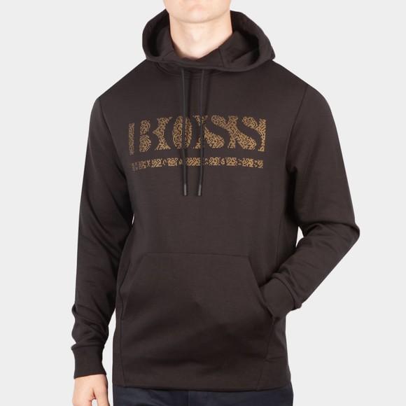 BOSS Mens Black Athleisure Soody 2 Pixel Overhead Hood