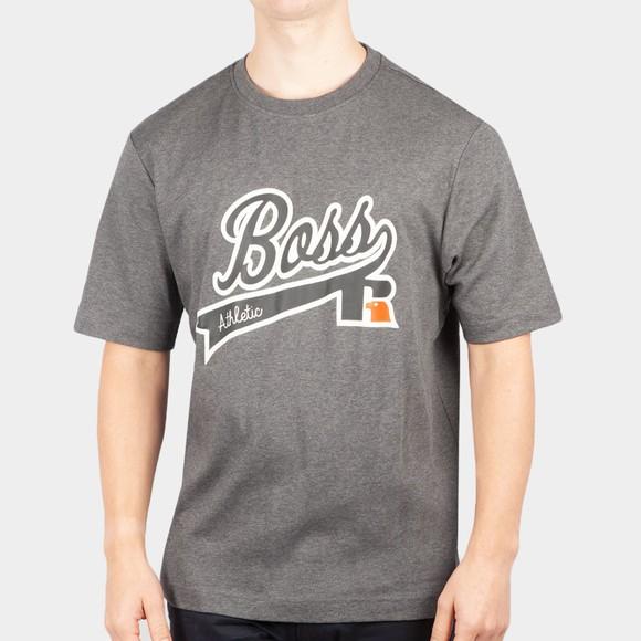 BOSS Mens Grey X Russell Athletic RA T Shirt