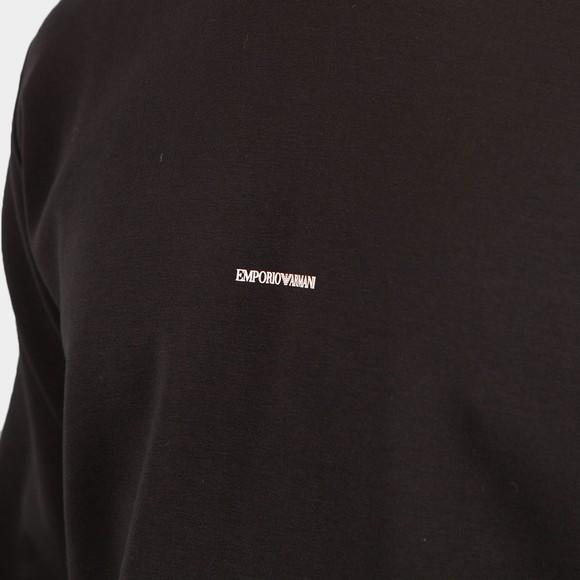 Emporio Armani Mens Black Centre Logo Sweatshirt main image