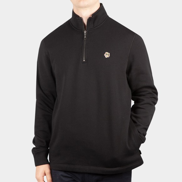 Ted Baker Mens Black Kilbrn Half Zip Sweatshirt
