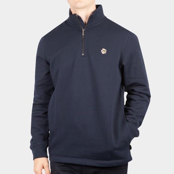 Ted Baker Mens Blue Kilbrn Half Zip Sweatshirt