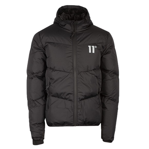 Eleven Degrees Mens Black Large Paneled Jacket main image