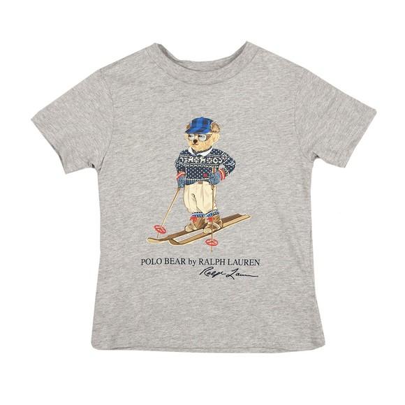 Polo Bear By Ralph Lauren Boys Grey Ski Bear T Shirt