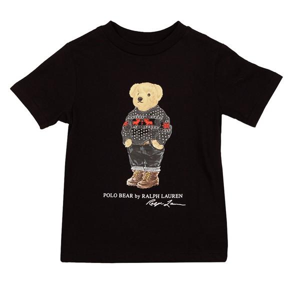 Polo Bear By Ralph Lauren Boys Black Ski Bear T Shirt main image