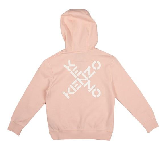 Kenzo Kids Girls Pink K15109 Zip Hoody