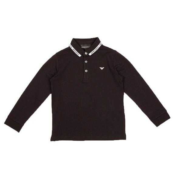 Emporio Armani Boys Black 6K4FJ4 Polo Shirt