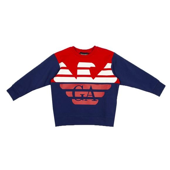 Emporio Armani Boys Red Large Eagle Logo Sweatshirt