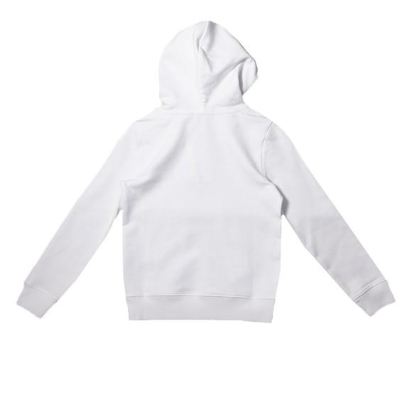 Calvin Klein Jeans Girls White Monogram Hoody