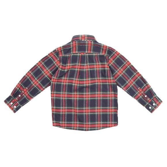 Gant Boys Blue Plaid Flannel Shirt