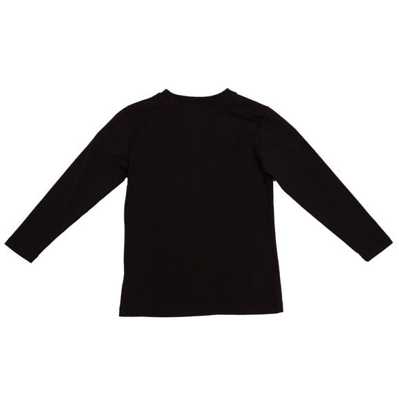 Moschino Girls Black Diamante Stud T Shirt