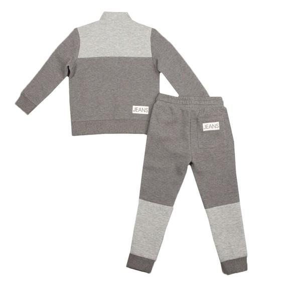 Calvin Klein Jeans Boys Grey Block Zip Up Sweat Set