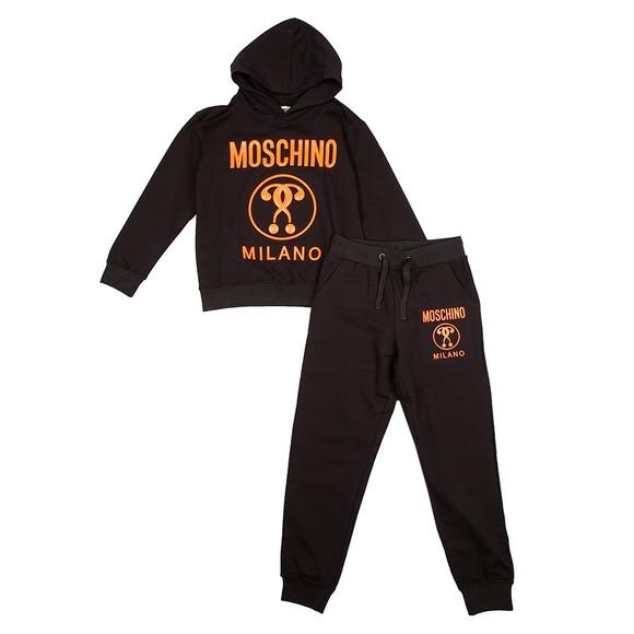 Moschino Boys Black Milano Logo Hooded Tracksuit