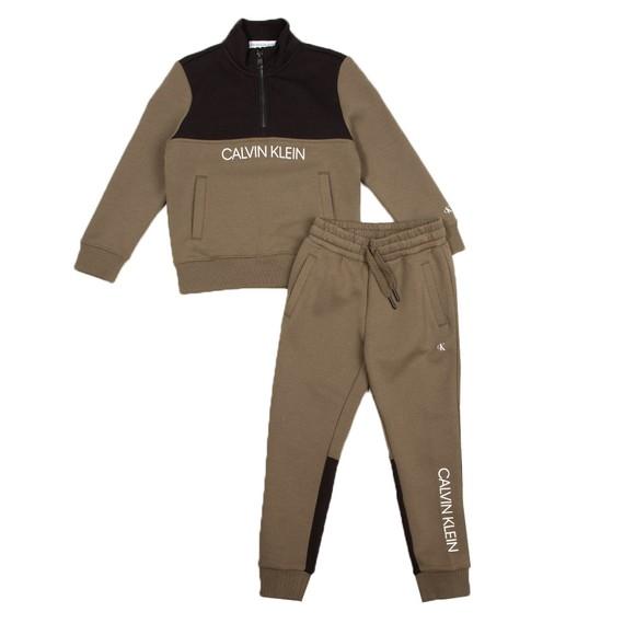 Calvin Klein Jeans Boys Green Block Zip Up Sweat Set