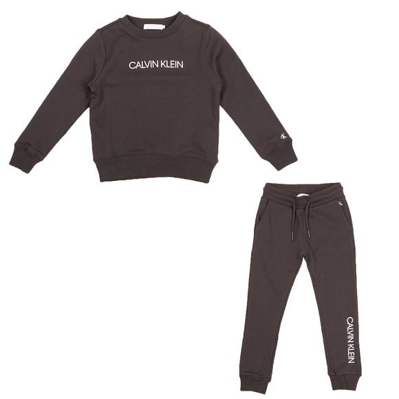 Calvin Klein Jeans Boys Black Essential Hawk Sweat Set