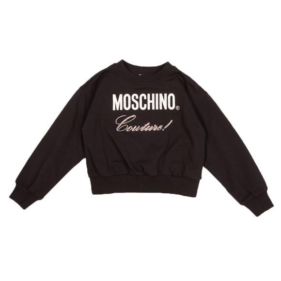 Moschino Girls Black Diamante Stud Tracksuit