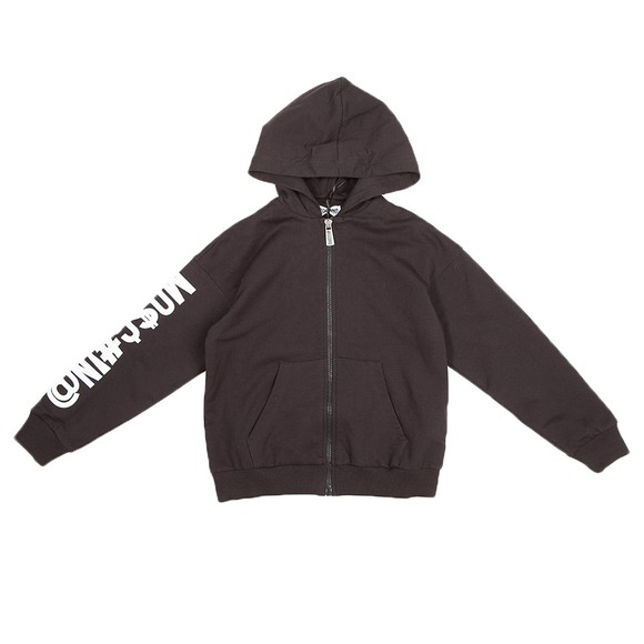 Moschino Boys Black Embroidered Logo Zip Tracksuit