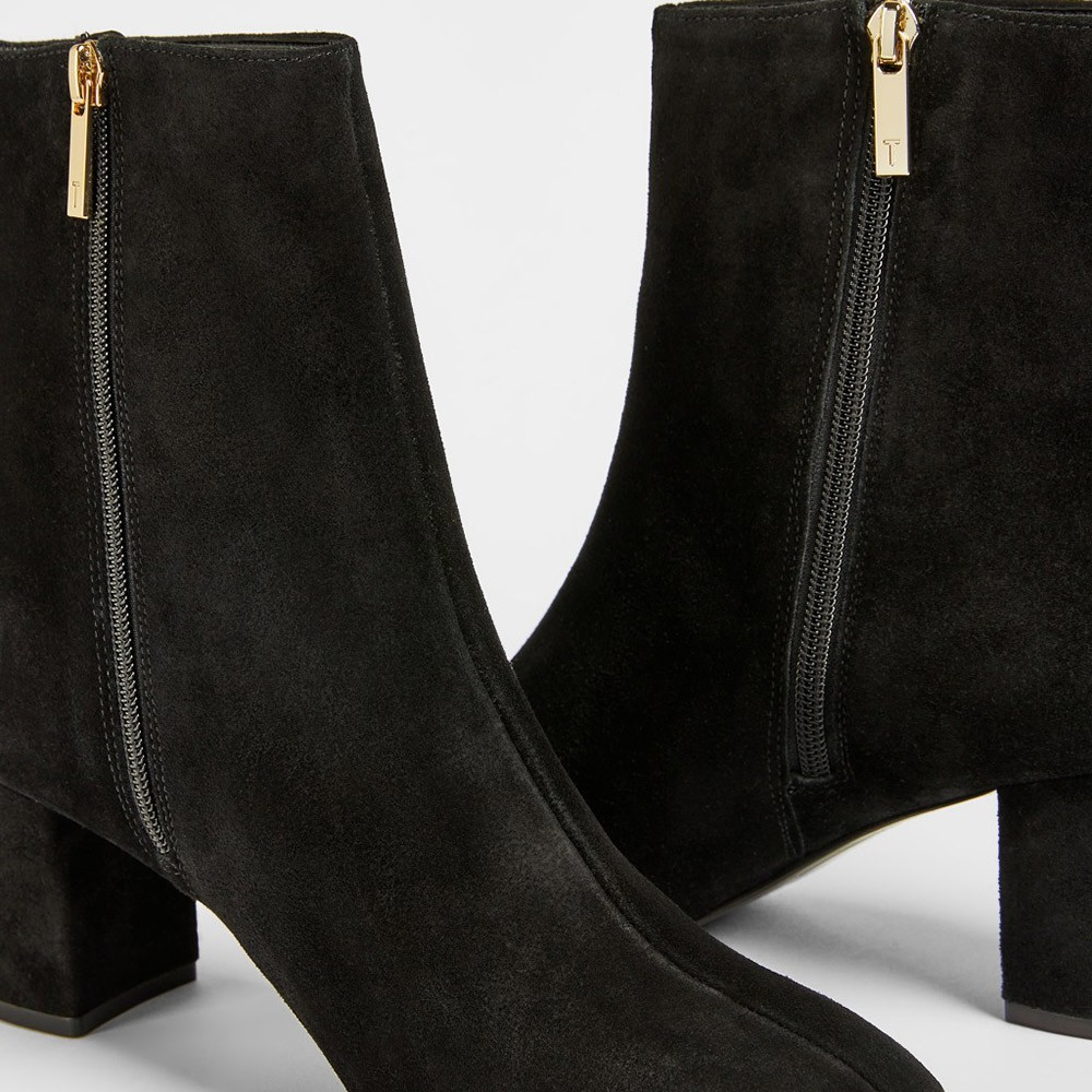 Neomie Suede Block Heel Ankle Boot main image