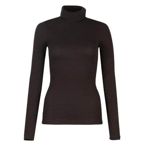 Polo Ralph Lauren Womens Black Ribbed Turtleneck