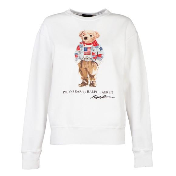 Polo Bear By Ralph Lauren Womens White Bandana Bear Sweatshirt