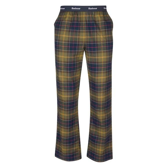 Barbour Lifestyle Mens Green Glenn Tartan Pyjama Trouser