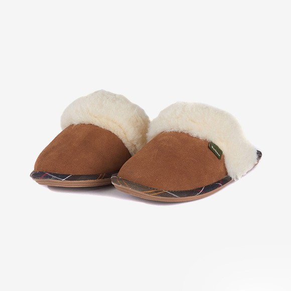 Barbour Lifestyle Womens Brown Lydia Mule Slipper