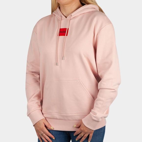 HUGO Womens Pink Dasara Hoody