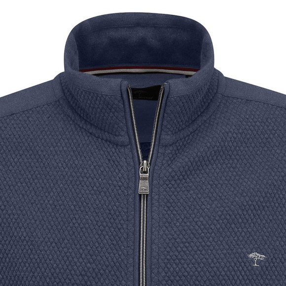 Fynch Hatton Mens Blue Full Zip Sweatshirt