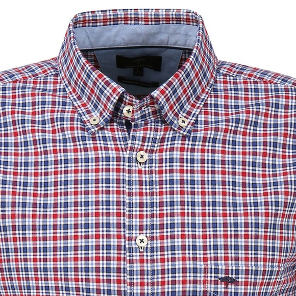 Fynch Hatton Mens Red Supersoft Oxford Shirt