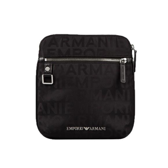 Emporio Armani Mens Black Block Letter Logo Bag