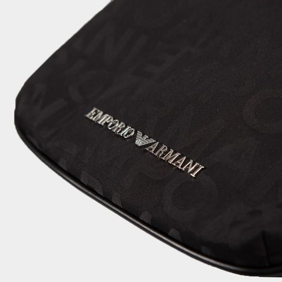 Emporio Armani Mens Black Block Letter Logo Bag main image