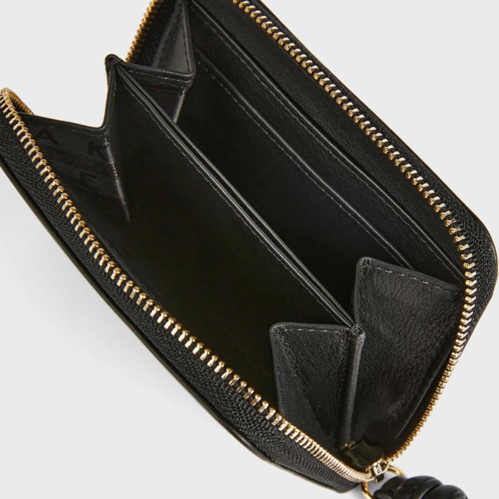Moolah Knotted Leather Zip Around Mini Purse main image