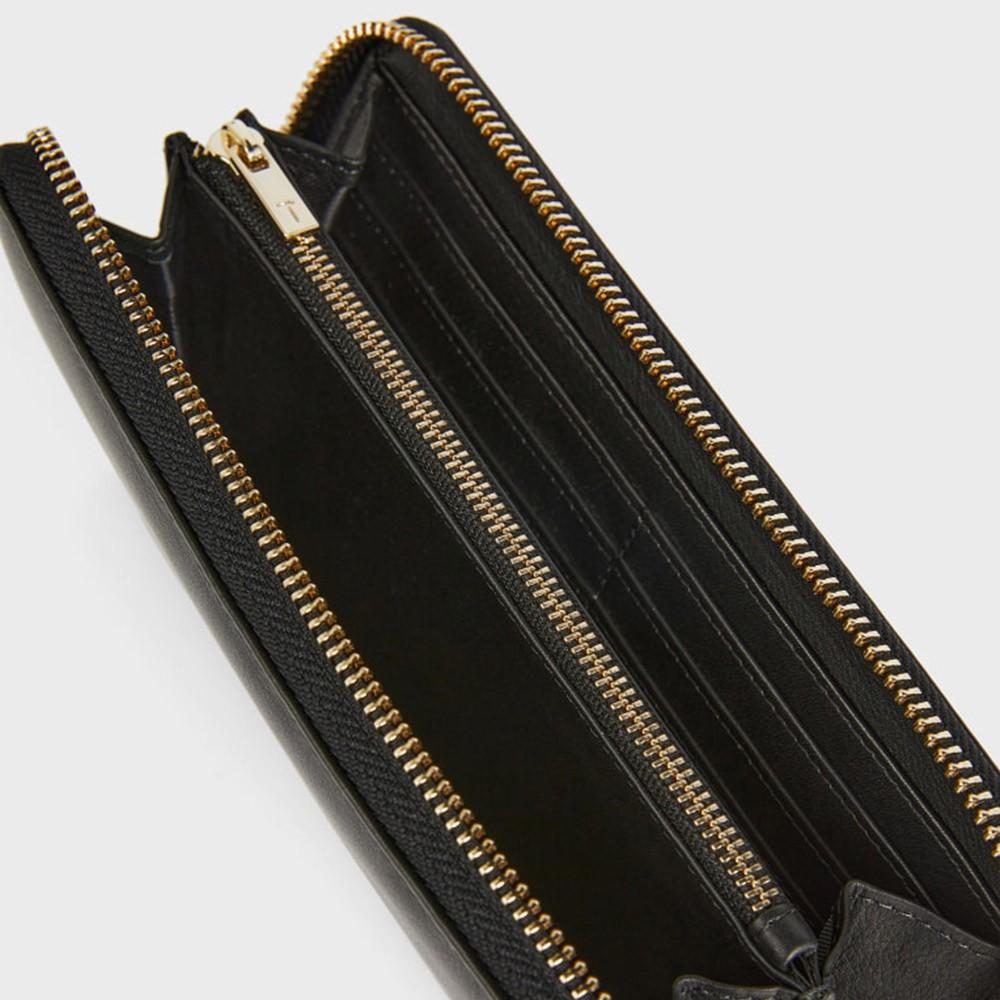 Myyleu Knotted Leather Zip Around Matinee Purse main image