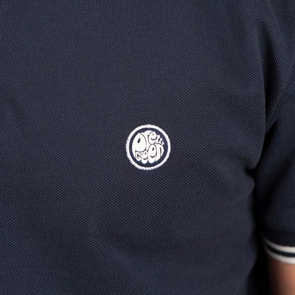 Pretty Green Mens Blue Barton Tipped Polo Shirt main image