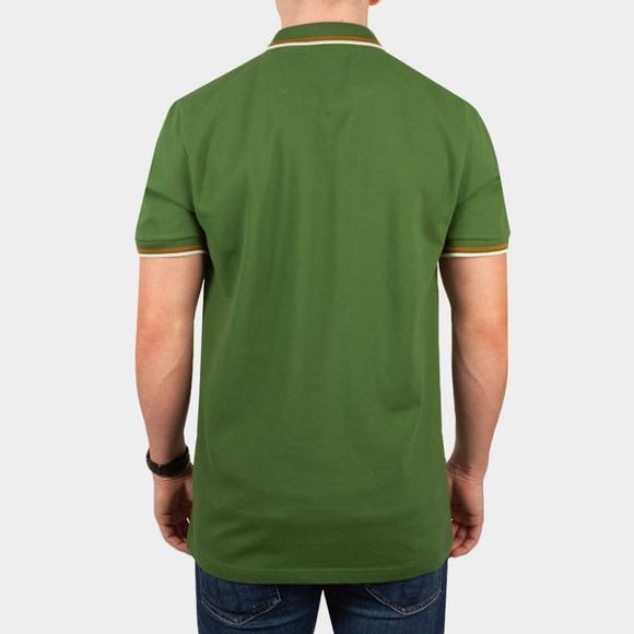 Pretty Green Mens Green Barton Tipped Polo Shirt main image