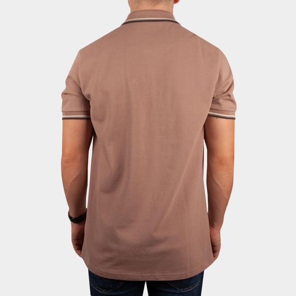 Pretty Green Mens Pink Barton Tipped Polo Shirt main image