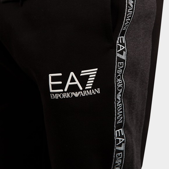 EA7 Emporio Armani Mens Black Tape Tracksuit main image
