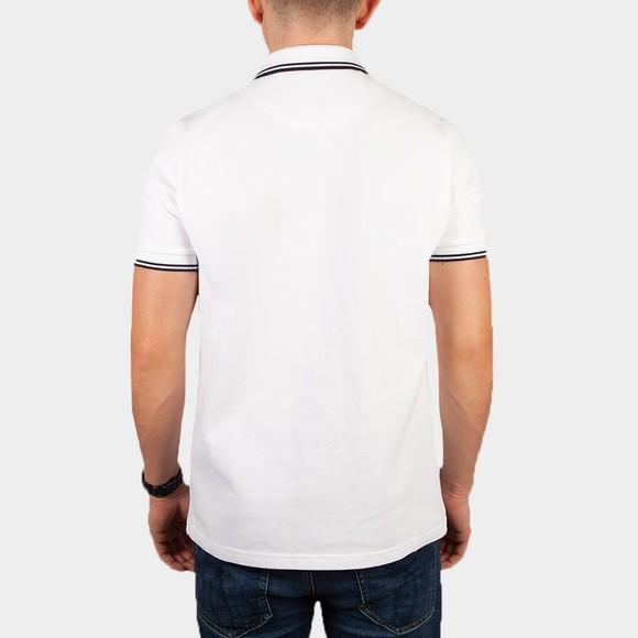 Pretty Green Mens White Barton Tipped Polo Shirt main image