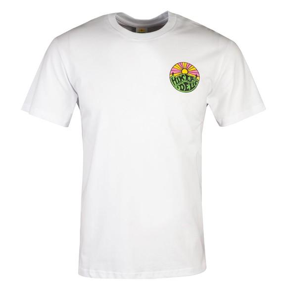 Hikerdelic Mens White Original Green Logo T-Shirt main image
