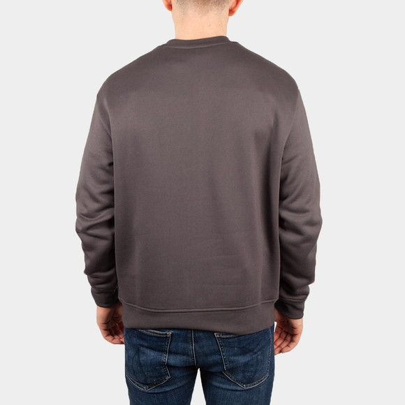 Emporio Armani Mens Grey Embroidered Eagle Sweatshirt main image