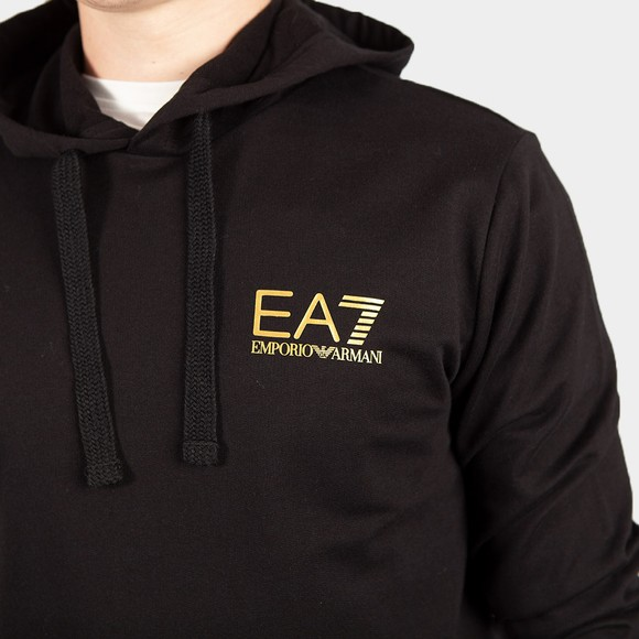 EA7 Emporio Armani Mens Black Taped Arm Hoodie main image